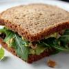 Arugula Walnut Avocado Sandwich