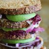 Avocado Beet Pesto Sandwich